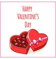 Card for Valentines Day with chocolate candies vector image