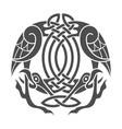 celtic eagle ethnic ornament vector image
