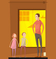 father abusing children composition vector image