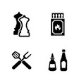 grill frying simple related icons vector image