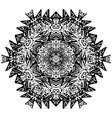 indian ornament kaleidoscopic floral mandala vector image
