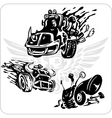 Symbols set for Trucks and Cars vector image