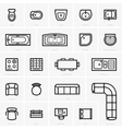Top view furniture icons vector image
