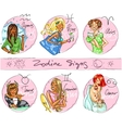 Zodiac signs Hand drawn icons - part 1 vector image