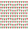 christmas bunting pack vector image