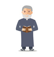 Cartoon Character Old man like a priest vector image