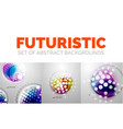 set of modern futuristic abstract background vector image