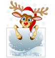 Reindeer Sign vector image vector image