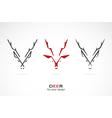 image of an deer design vector image vector image