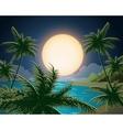 Tropical Seascape vector image
