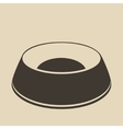 Pet food bowl vector image
