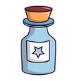 bottle of magic icon cartoon style vector image