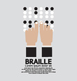 Braille Language Reading By The Blind vector image