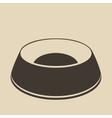 Pet food bowl vector image