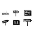 welcome board icon set simple style vector image