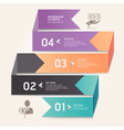 Business step options origami style vector image