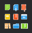 Office documents color icons set vector image vector image