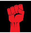 Fist red clenched hand vector image