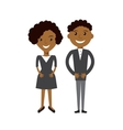 Couple of business woman and business man Black vector image