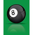 black billiard ball vector image vector image