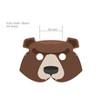Carnival baby bear mask in A4 format Print and cut vector image