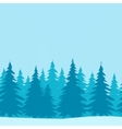 Christmas Trees Low Poly vector image