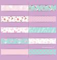 festive textile ribbons set vector image
