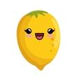 kawaii cute lemon citrus yellow icon vector image