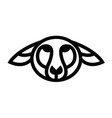 linear stylized drawing - head of sheep or ram vector image