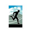 Marathon runner silhouette vector image