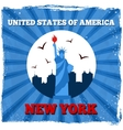 New York USA retro poster vector image