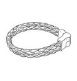 sketch of leather bracelet vector image