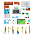 students in chemical laboratory elements vector image