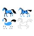Stylized horse vector image