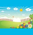 sunny spring landscape vector image