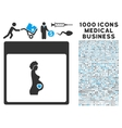 Pregnant Woman Calendar Page Icon With 1000 vector image