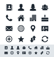 Contact icon set simplicity theme vector