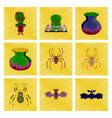 assembly flat shading style icon halloween monster vector image