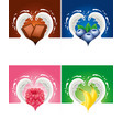 ilk splash created heart with raspberry blueberry vector image