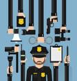 policeman modern design flat vector image