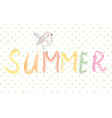 Summer banner with bird artistic vector image