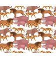 Seamless background with jungle animals vector image