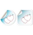 sticker love hearts vector image vector image