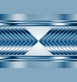 Abstract blue metal tech arrows background vector image vector image