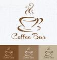 Coffee shop logo design template retro style vector image