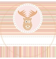 cute deer face vector image