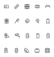 Electronics Stroke Icons 4 vector image