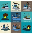 Environmental Pollution Icon Set vector image