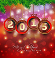 Happy new year 2015 background with Christmas vector image