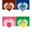 ilk splash created heart with raspberry blueberry vector image